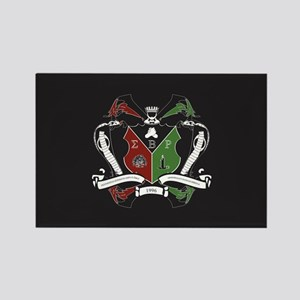 Sigma beta Rho Fraternity Crest Rectangle Magnet